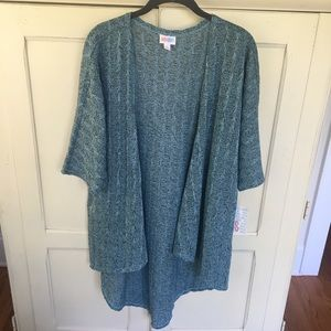 NWT Lularoe cardigan aqua blue-green small